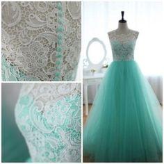 Long chiffon & lace bridesmaid dress. It's beautiful! I wish they had more colours!