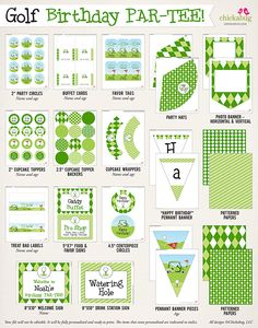 New in the shop: Golf birthday party printables kit!