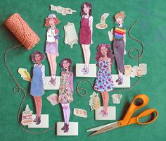 """These """"Stellar Sister"""" printable paper dolls are as fun as they are empowering! Grab your Fiskars® Orange-handled Scissors™ and get your craft on. Diy Gifts For Kids, Presents For Kids, Crafts For Boys, Diy Arts And Crafts, Diy Craft Projects, Diy Crafts, Craft Ideas, Paper Doll Template, Paper Dolls Printable"""