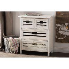 Rococo Shabby Elegance 4 Drawer Storage Cabinet