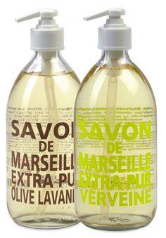 Savon de Marseille Liquid Hand Soap by Compagnie de Provence Provence, Liquid Hand Soap, Personal Care, Beauty, Grapefruit, Fig, Birthday Ideas, Room Ideas, Rose