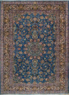 "Buy Kashan Persian Rug 8' 5"" x 11' 8"", Authentic Kashan Handmade Rug"