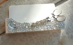 Shear Bling/HairStylist Business Card Holder by TheBohemianGypsy