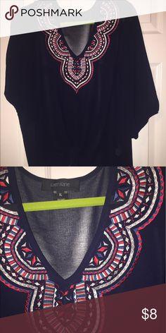 Blouse XL fits like 1XL! Ties at the bottom! Karen Kane Tops Blouses