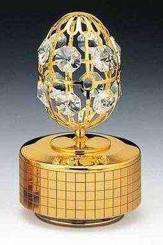 Egg 24k Gold Plated Swarovski Crystal Music Box « MyMallHome.com – Closest Shopping Mall on the Internet