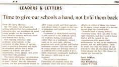 Letter to the editor for the Edge Foundation to promote practical learning and skills for young people and to comment on the latest government white paper. Letter To The Editor, Private Sector, White Paper, Young People, Foundation, Social Media, Letters, Writing, Education