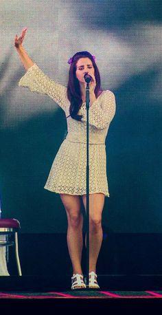 Lana Del Rey performing at the TW Classic festival in Belgium, June 9th, 2016