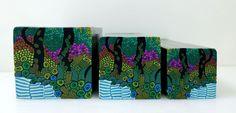 "Tree cane # 50 ""Rainforrest"" by Wendy Jorre de St Jorre."