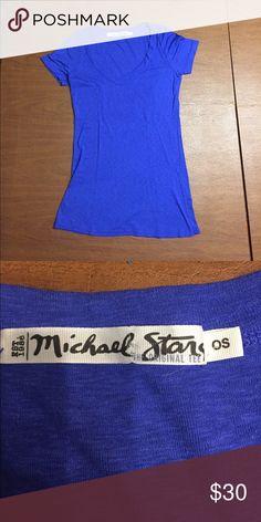 Blue t shirt Never worn Micheal stars, never worn Michael Stars Tops Tees - Short Sleeve