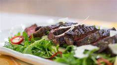 No grill? No problem! Try Ben Ford's skillet seared steak with arugula salad