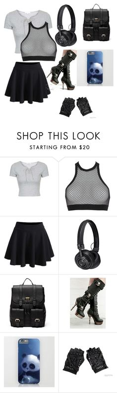 """""""Oc"""" by tokyocity7 on Polyvore featuring Topshop, Dsquared2, WithChic, Master & Dynamic, Sole Society and Demonia"""
