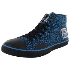 Vision Street Wear Mens Canvas Hi Fashion Skate Shoe - Blue/Black Print - Size Streetwear Summer, Streetwear Shoes, Best Sneakers, Sneakers Fashion, Hi Fashion, Mens Fashion, Vision Street Wear, Balenciaga Sneakers, Skate Shoes