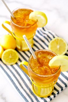 Lemon Shandy with Dark Rum Float via A House in the Hills