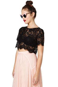Persuasion Lace Crop Top $52