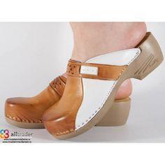 Saboti/Papuci maro din piele naturala dama/dame/femei (cod PU154) Clogs, Fashion, Clog Sandals, Moda, Fashion Styles, Fashion Illustrations