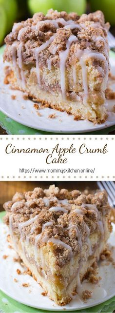 Cinnamon Apple Crumb Cake Are you ready for fall baking? Cinnamon Apple Crumb Cake is the perfect dessert for crisp weather coming up. - Are you ready for fall baking? Cinnamon Apple Crumb Cake is the perfect dessert for crisp weather coming up. Dessert Haloween, Apple Crumb Cakes, Apple Streusel Cake, Apple Poke Cake, Apple Crumb Pie, Easy Apple Cake, Delicious Desserts, Yummy Food, Simple Dessert Recipes