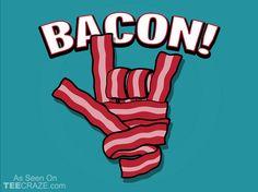 Bacon T-Shirt - https://teecraze.com/bacon-t-shirt/ -  Designed by Boggs Nicolas    #tshirt #tee #art #fashion #TCRZ #clothing #apparel #bacon
