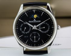 The NEW larger Jaeger LeCoultre Master Ultra Thin Perpetual with a Black Dial. 1308470, Q1308470, 130.84.70. LOVING IT!