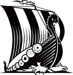 Viking war ship