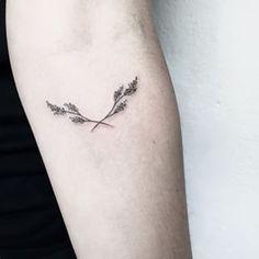 Estes ramos delicados. | 26 lindas tatuagens para inspirar todos os amantes da natureza