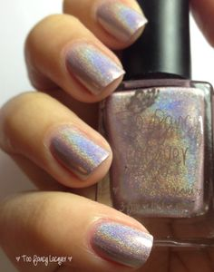 Love Diamonds - ultra linear holo in silvery pink lilac.   This is part of The Lovelock Duo (coming soon)