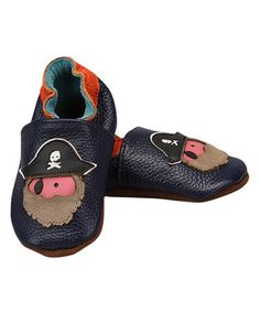 Look what I found on #zulily! Navy Pirate Leather Booties #zulilyfinds