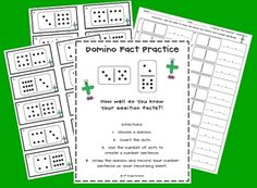 Here's a set of center materials for using dominoes to practice basic addition facts.