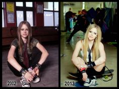 LOL From Sk8er Boi To Here's to never Growing up <3 :D She hasn't aged a day!!!