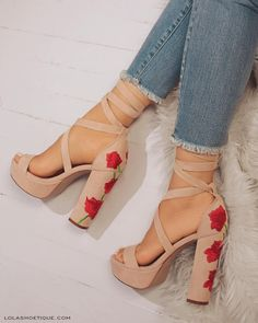 "12.7k Likes, 48 Comments - Lola Shoetique (@lolashoetiquedolls) on Instagram: ""Strike A ROSE! Add These Ultra Chic & Sexy Platforms To Your Collection NOW! 