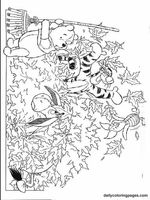 winnie the pooh fall coloring pages 01 printables Pinterest