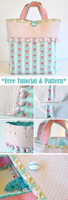 Tote Bag Sewing Tutorial. How-to step by step http://www.free-tutorial.net/2017/09/tote-bag-sewing-tutorial.html