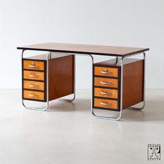 Bauhaus tubular steel desk. @designerwallace