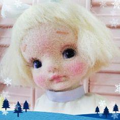 Felt Dolls, Doll Toys, Felt Angel, Little Doll, Felt Art, Doll Patterns, Needle Felting, Wool Felt, Chibi