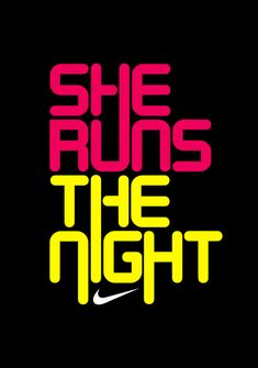 I love this SO HARD!     NIKE SHE RUNS by Like Minded Studio, via Behance