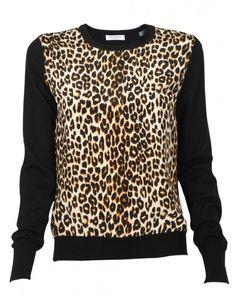 Roland Leopard Crew Sweater, this reminds me of the bigbang parody secret bigbang lol