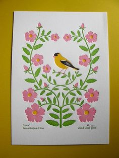 iowa from birds and blooms of the 50 states by dutchdoor on Etsy, $15.00