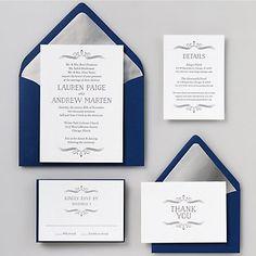 Vintage Marquis Wedding Invitation - Lauren & Andrew | Paper Source