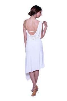 One-shoulder Asymmetric Tango Dress
