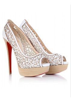 afa43ecf8e5c Christian Louboutin Wedding Shoes ♥ Chic and Fashionable Wedding High Heel  Shoes