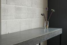 #Concrete side bar table  by #setworkshop.co.uk