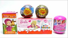 Chupa Chups Balls, Barbie Surprise Eggs, Masha and the Bear, Disney Prin...