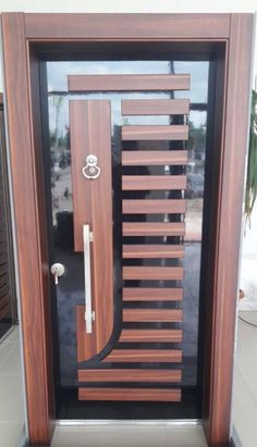 Finas puertas Grill Door Design, Door Gate Design, Room Door Design, Best Door Designs, Modern Entrance Door, Steel Gate Design, Wooden Main Door Design, Home Decor Shelves, House Front Door