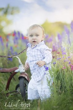 Dallas Family Photographer, 14 month old boy, wildflowers, tricycle Dallas, 12 Month Photos, 14 Month Old, 1 Year Olds, Photographing Kids, Old Boys, Tricycle, Wildflowers, Daisies