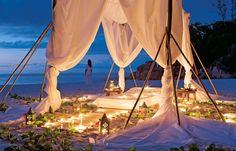 Sunset Spa Treatments on a Private Island Beach