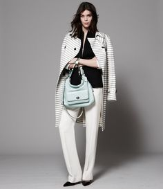 Fine lines: Graphic stripes balance classic with modern. Get the look from Coach.