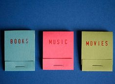 Matchbook notepads / Bloc-notes petit format #howto #tuto