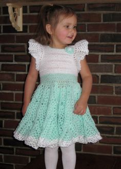 Crochet dress no pattern