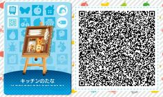 ACNL/ACHHD QR CODE-Kitchen Wall Shelf wth Dishes もっと見る