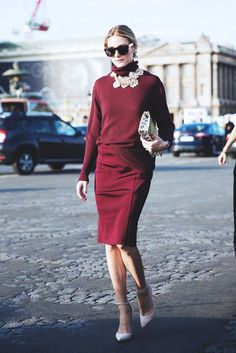 Polished office looks for every day of he month. Olivia Palermo Image Via: Who What Wear. Style Olivia Palermo, Olivia Palermo Lookbook, Fashion Mode, Work Fashion, Womens Fashion, Fashion Trends, Paris Fashion, Street Fashion, Fashion Tips