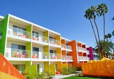 The Saguaro / Stamberg Aferiat Architecture (Palm Springs, California). Looks very cool. Fresco, Palm Springs Hotels, California, Looks Cool, Spring Colors, Oh The Places You'll Go, Color Inspiration, Interior Architecture, Interior Design